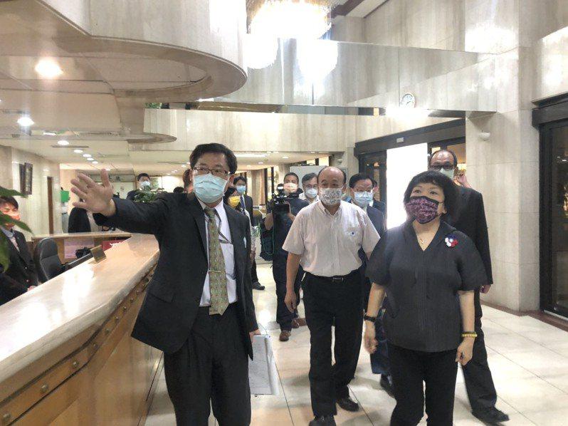 國民黨立委葉毓蘭今排考察台北、大安會館。記者李承穎/攝影