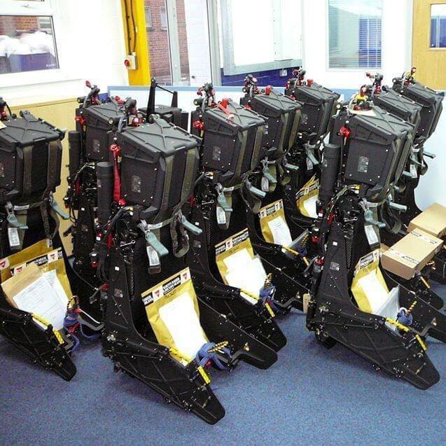 空軍建案加快速度更新F-5戰機彈射椅。圖/取自馬丁·貝克官網