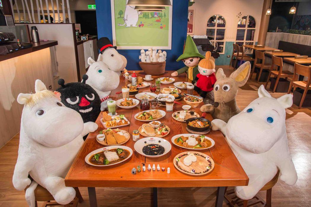 標榜是全台唯一的嚕嚕米主題餐廳,店內充滿嚕嚕米的各式元素。圖/嚕嚕米主題餐廳提供