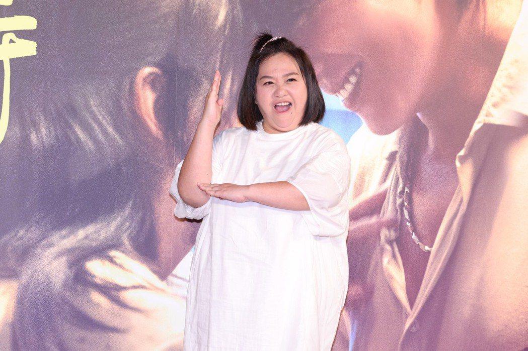 鍾欣凌展現不同於電影裡的面貌。記者王聰賢/攝影