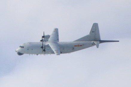 國防部指出,昨天侵入我西南防空識別區的共機,包括空警五百機一架次、運八反潛機一架次、殲十六機四架次、殲十機四架次。 圖為運八同型機。圖/國防部提供