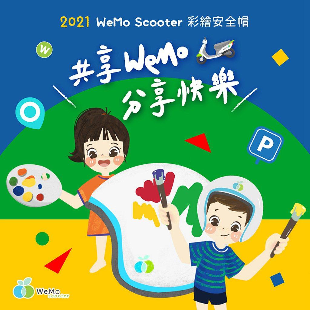 WeMo Scooter 4月1日起將推動年度彩繪安全帽系列活動。今年更攜手新光...