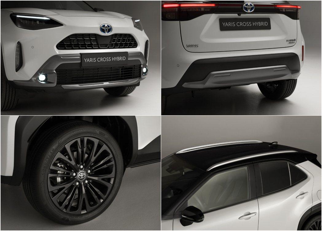 前後保桿改採霧銀飾板,換裝銀色車頂架以及18吋深灰色鋁圈。 圖/Toyota提供