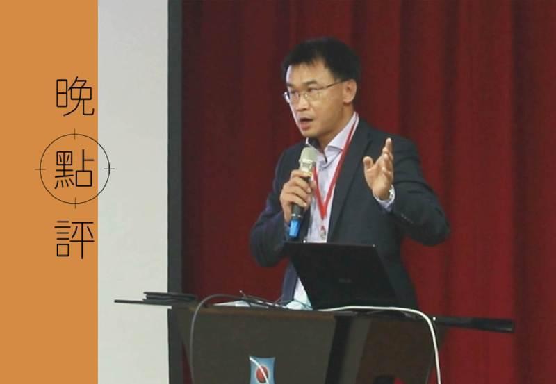 農委會主委陳吉仲今天出席在中興大學舉辦的「重啟溝通丶共尋雙贏方案」座談,發言過程中哽咽。圖/中興大學提供