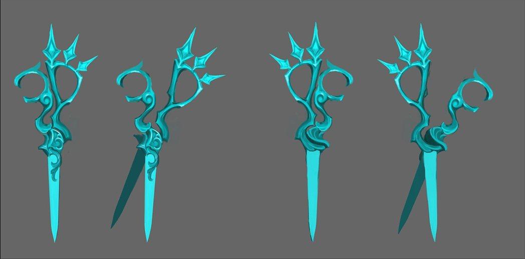 關的武器「巨型剪刀」,武器音效還真的是用設計師的剪刀創造而成