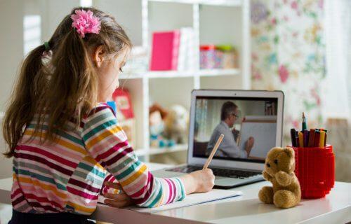 美國CDC調查顯示,長期遠距教學對兒童心理發展會有負面影響。(Photo from網路截圖)