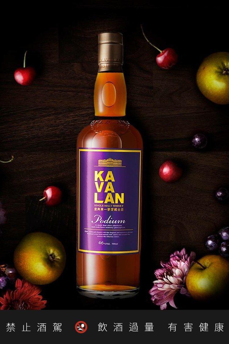 噶瑪蘭堡典(Kavalan Podium)單一麥芽威士忌。圖/摘自金車噶瑪蘭臉書...