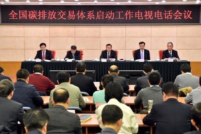 上海環境能源交易所總經理劉杰透露,目前大陸全國碳市場系統已基本建設完成。(圖/取...