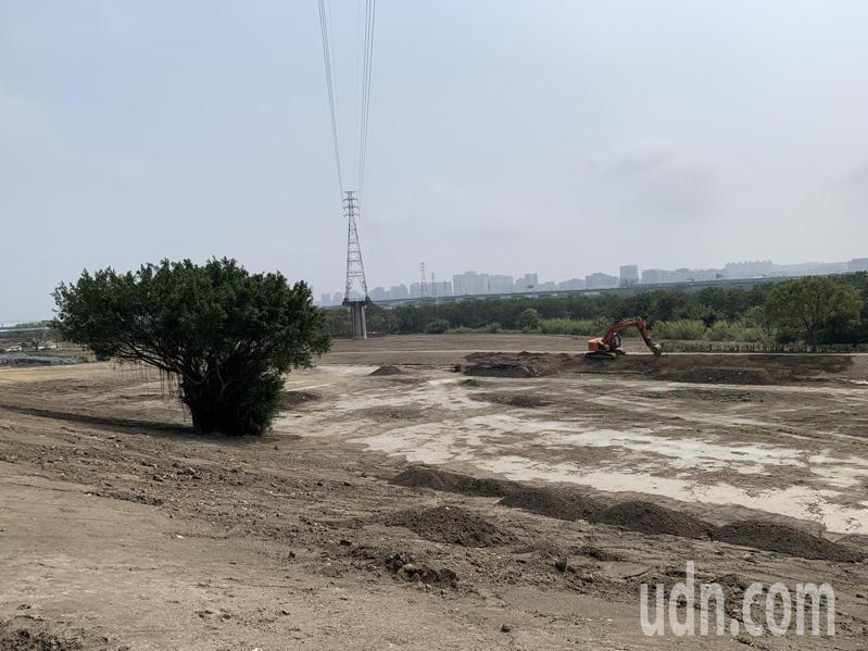 位於A、B兩處集中設施區之間的頭前溪二期空氣品質淨化區,預計4月7日可完工。記者陳斯穎/攝影