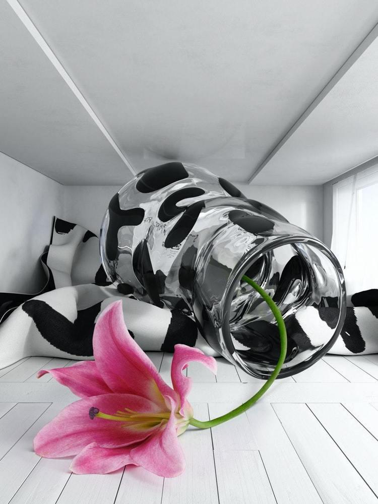 Stefan Marx設計的花瓶與萬用毯帶有感性詞句。圖/IKEA提供