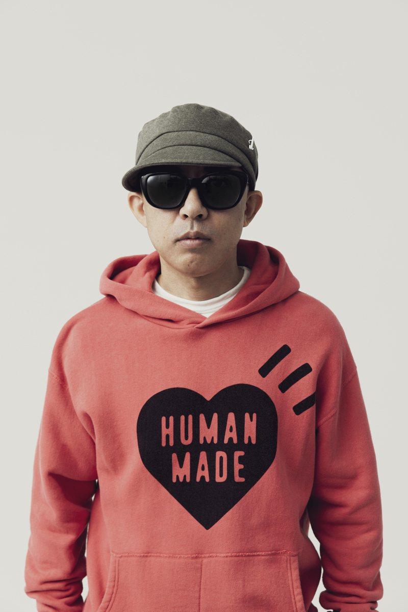 JINS看重Nigo對於時尚的獨特觀點,在創立JINS&SUN墨鏡品牌時,就邀請了他負責設計指導。圖/JINS提供