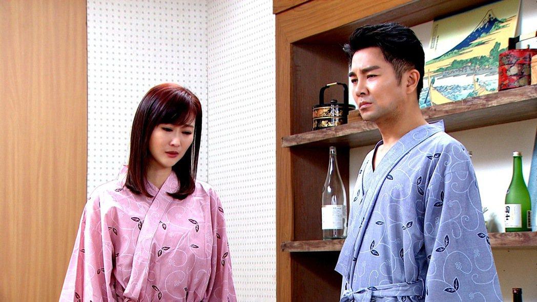 陳珮騏(左)在「天之驕女」中想和謝承均有床戲。圖/三立提供