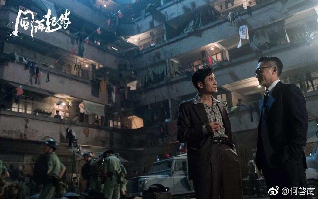 郭富城(左)、梁朝偉(右﹚主演警匪史詩電影「風再起時」在上映前3天臨時取消放映,