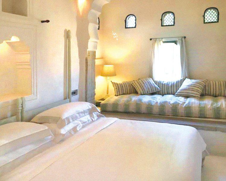 客房選用了寬庭的寢具。圖/寬庭美學提供