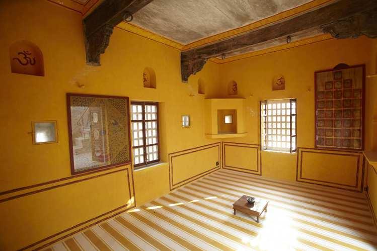 橙屋是古堡裡唯一保存原始樣貌的空間。圖/寬庭美學提供