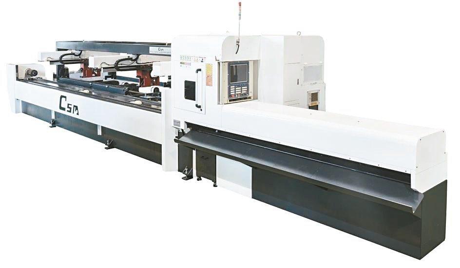 喬陞公司產製的雷射管件切割機名聞全球。喬陞公司/提供