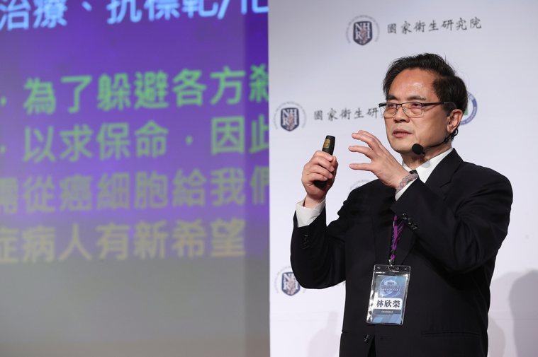 花蓮慈濟醫院院長林欣榮表示,為了解決治療瓶頸,臨床有患者對抗復發兩次的惡性腦瘤,...