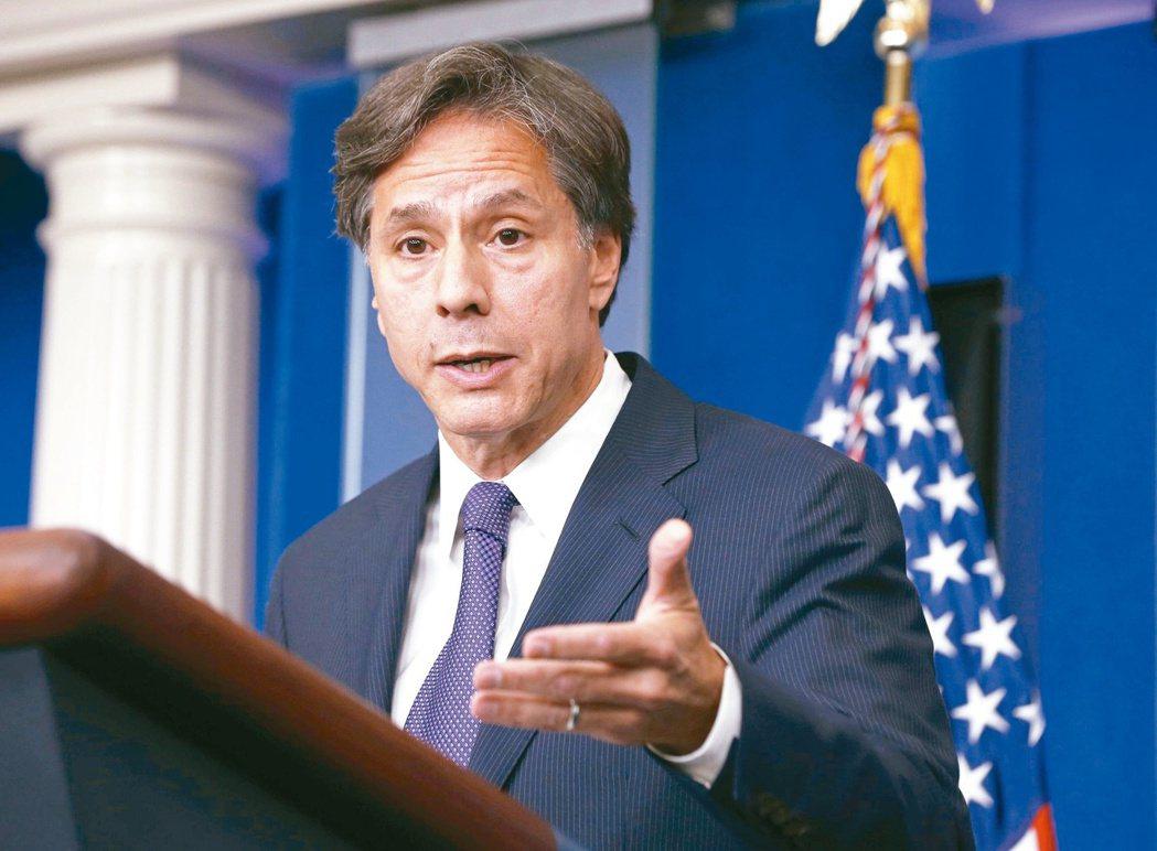 國務卿布林肯表示,希望創造更多接觸台灣官員的空間。 路透