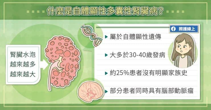 亞東紀念醫院腎臟內科蔡萬全醫師指出,自體顯性多囊性腎臟病,屬於最常見的遺傳性腎臟...