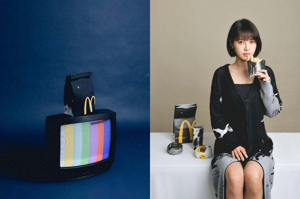 時裝設計品牌APUJAN再度與麥當勞合作,重新演繹「All in Black 極...