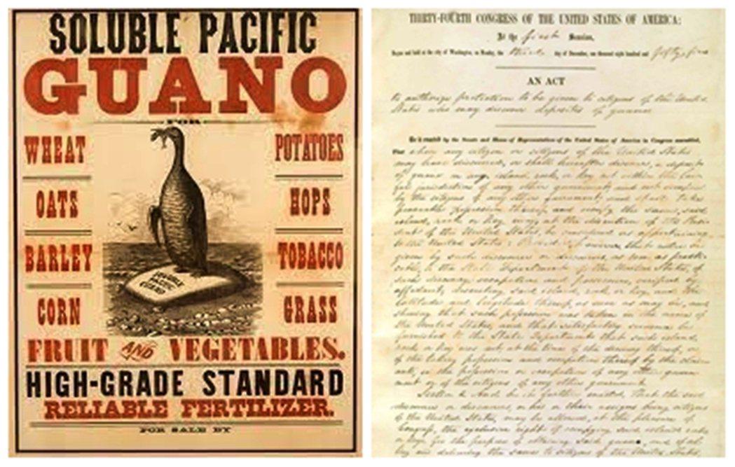 鳥糞企業家快速組成美國鳥糞公司,資本額為一千萬美金,並請求皮爾斯總統(Frank...