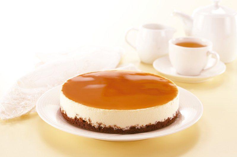 義大利焦糖馬仕卡邦乳酪蛋糕。(圖/阿默典藏蛋糕提供)
