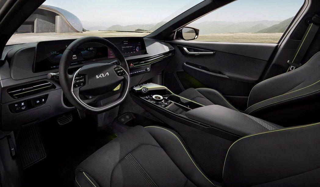 全新Kia EV6 GT車室。 摘自Kia