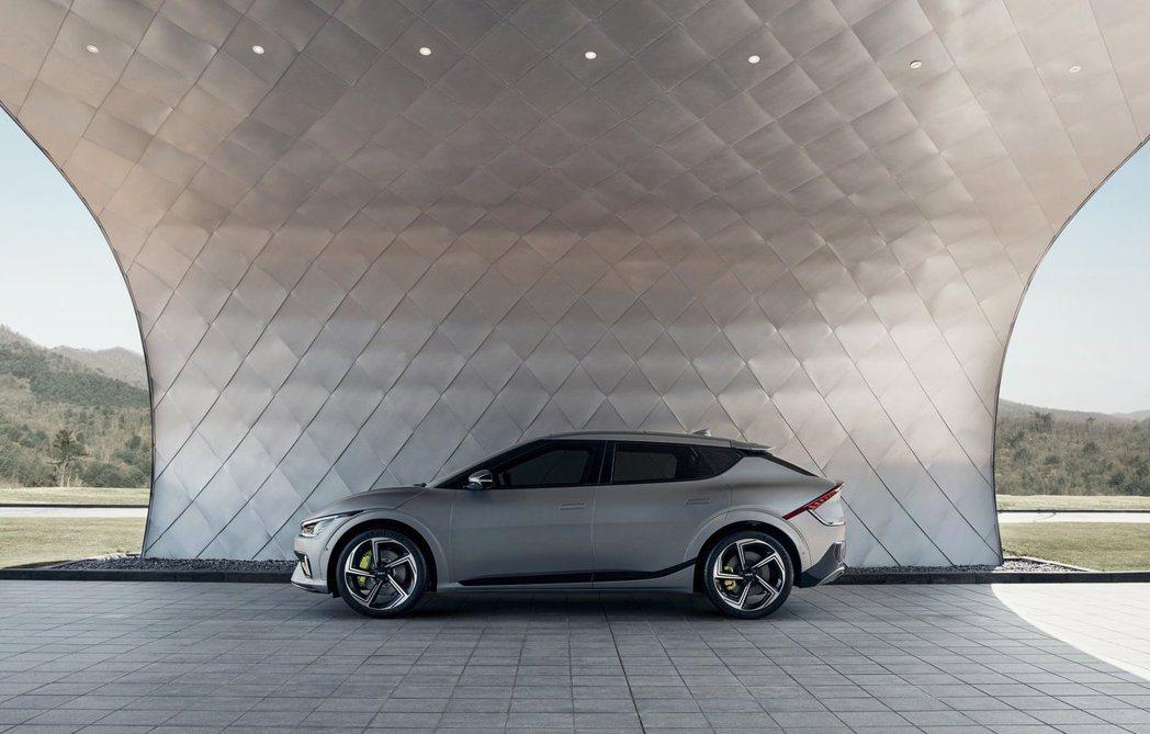 全新Kia EV6於30日正式發表。圖為EV6 GT。 摘自Kia