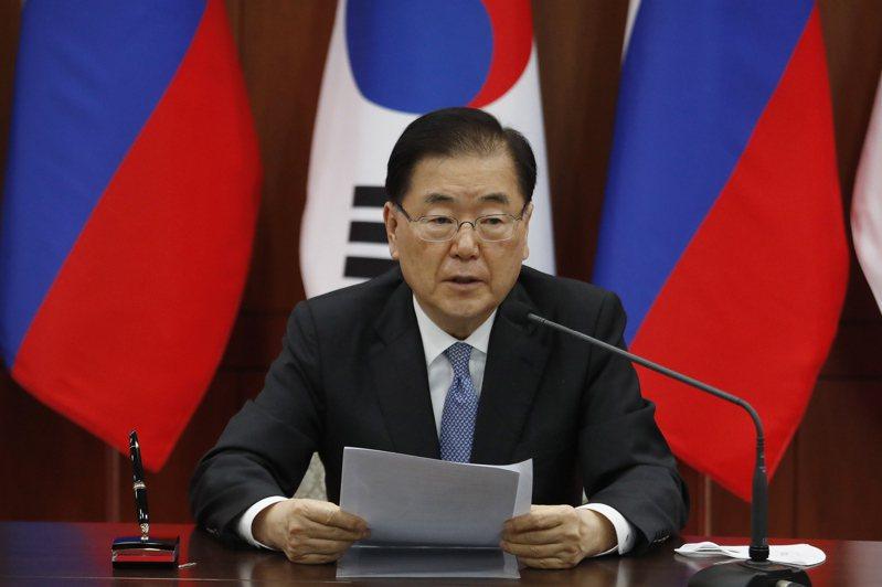 韓國外交部長鄭義溶。 歐新社