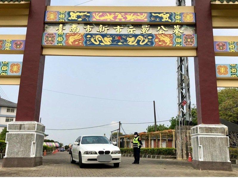 清明連假恐湧車潮,台南市善化警方將加強交通疏導管制。記者謝進盛/翻攝
