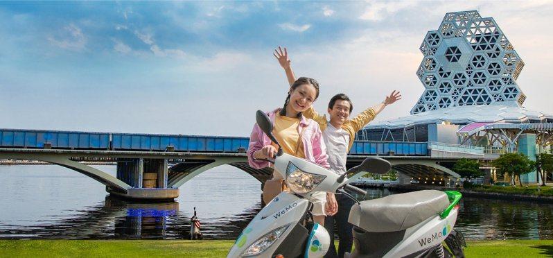 台灣高鐵公司與WeMo Scooter共享機車攜手推出「高鐵+ WeMo Scooter 高雄聯票」。圖/台灣高鐵公司提供