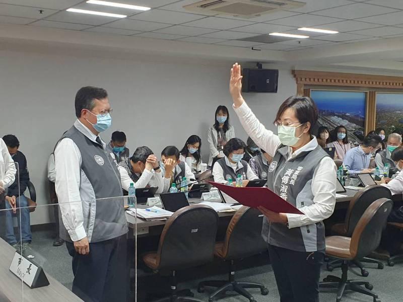 桃園市政府客家事務局長由黃傅淑香接任,今天舉行宣誓典禮。記者陳夢茹/攝影