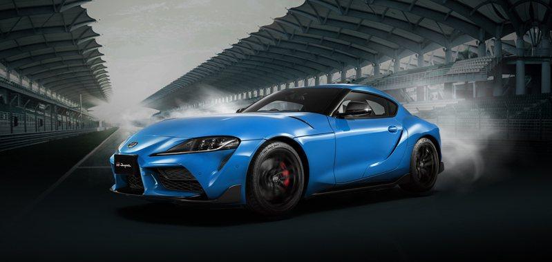 TOYOTA推出GR SUPRA 炫魅獨藏版,限量10台,專屬新車色凜冽藍絕色登場。業者提供