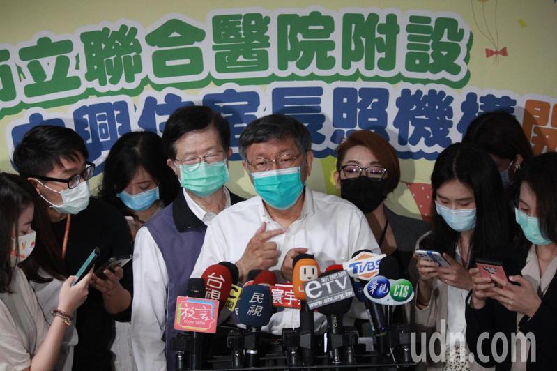 台北市長柯文哲遭議員批將副市長黃姍姍當作選舉籌碼,柯文哲僅說「不評論謠言」。記者胡瑞玲/攝影