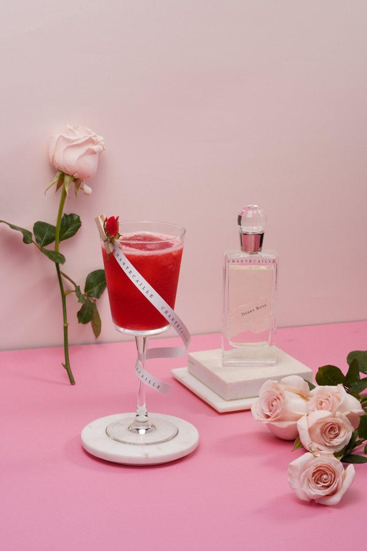 香緹卡 x W Taipei花漾女人主題調飲:達比玫瑰。圖/香緹卡提供 提醒您:...