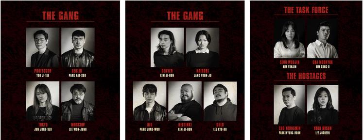 劉智泰、朴海秀及全鐘瑞等大明星都將演出韓版「紙房子」。圖/Netflix提供