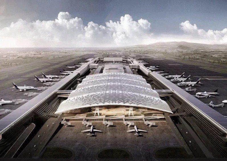 桃園機場第三航廈示意圖。 圖/桃機公司提供