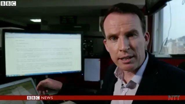BBC原駐北京記者沙磊。圖/取自BBC新聞截圖