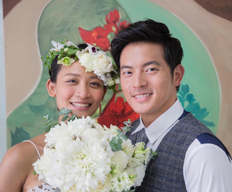 宥勝(右)表示兩人結婚時都沒有宴客。圖/摘自臉書