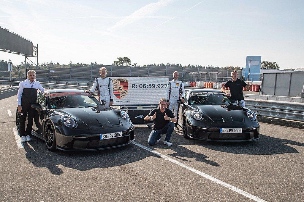 全新保時捷911 GT3在德國紐柏林賽道(Nuerburgring-Nordsc...