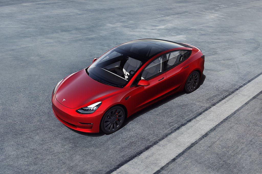 特斯拉Model 3為全球第一季綠能車銷售冠軍。 圖/Tesla提供