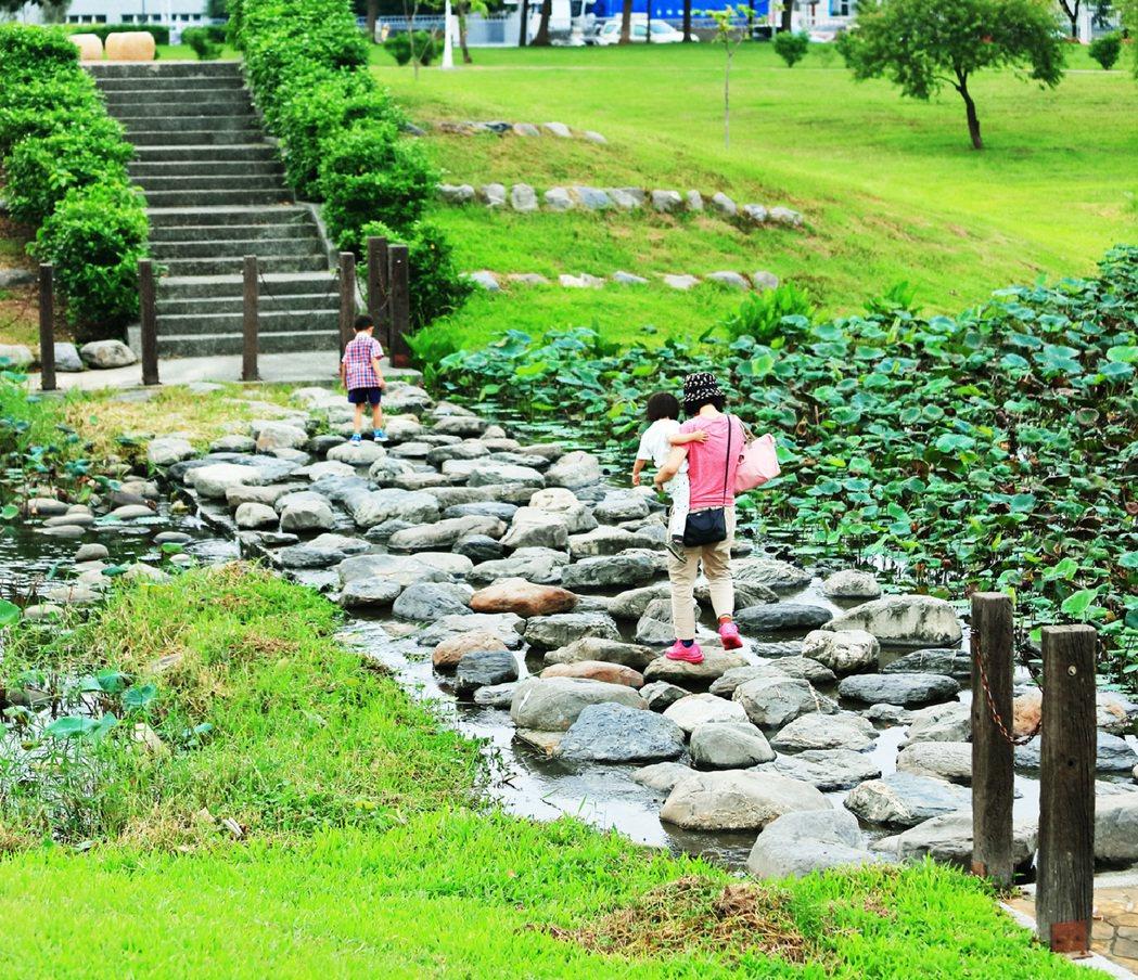 保安濕地公園實景。圖片提供/隆大營建事業