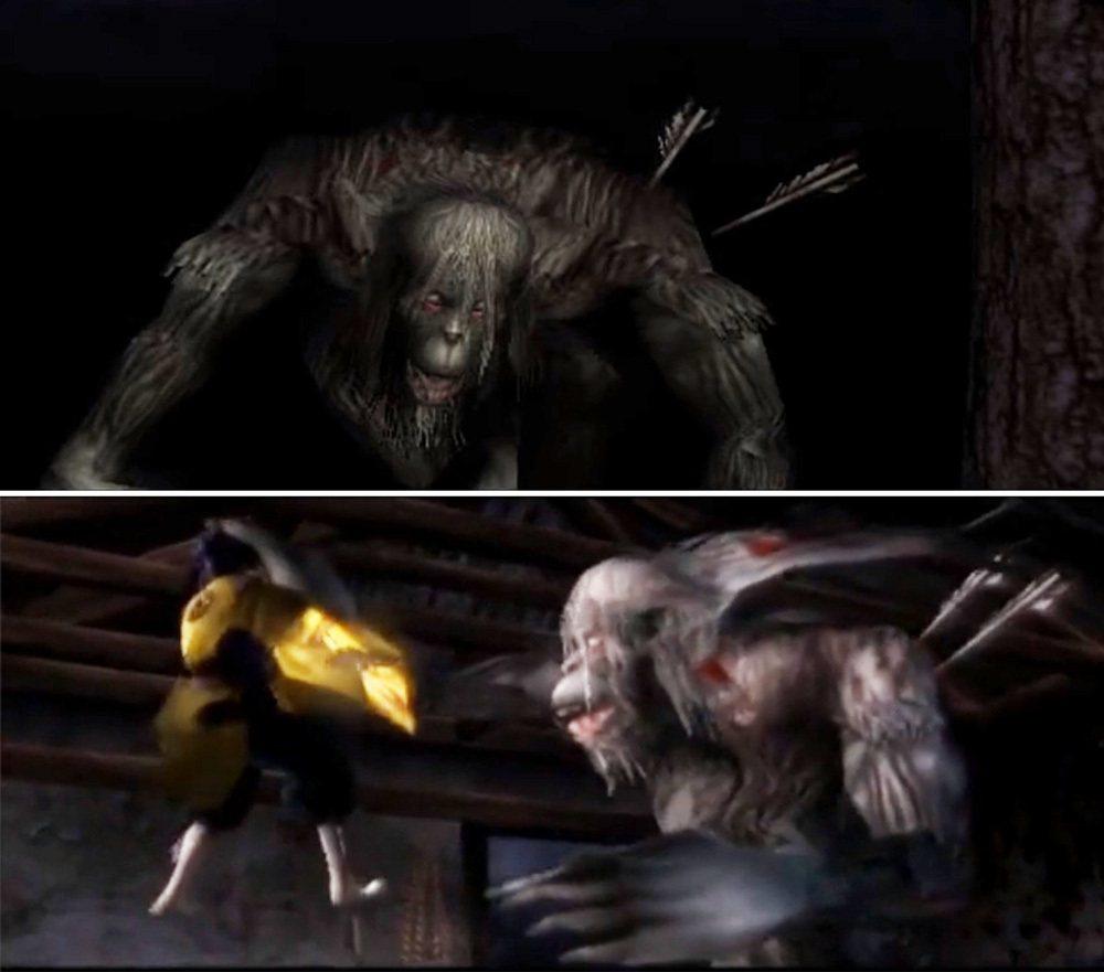 在九怨中出現的大猿猴敵人,有沒有覺得和隻狼中的獅猿有些相似呢?
