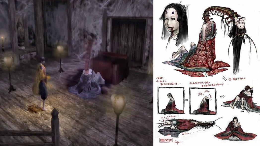 在遊戲中的其中一個頭目,已經遇害的藤原夫人,其脖子處冒出蜈蚣的樣子,和後來隻狼在...