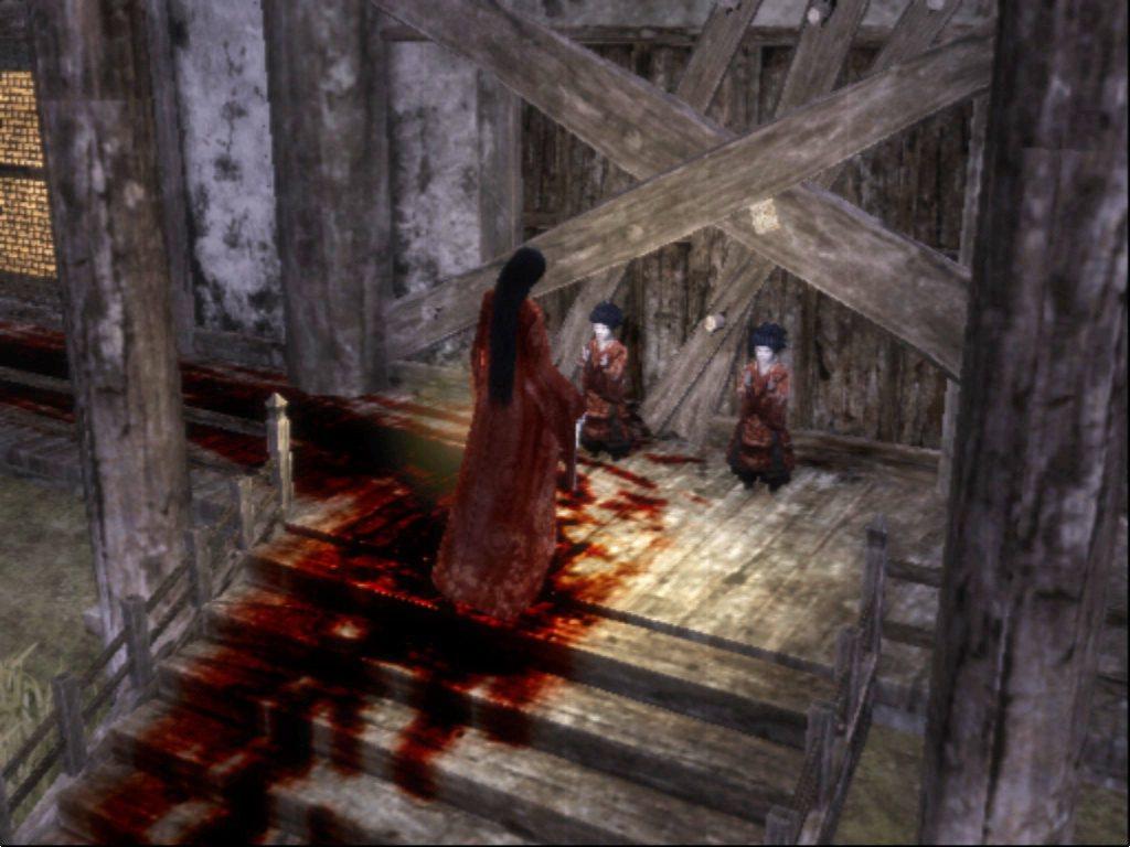 遊戲中很常出現的雙子二人組,在這種滿地血跡的地方竟然還有辦法唱著童謠,真的是有夠...