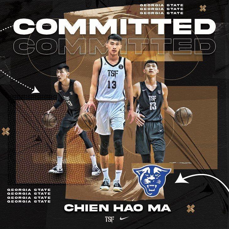 台灣旅美小將馬建豪今天在Instagram上宣布,獲得喬治亞州立大學(Georgia State Panthers men's basketball)的全額獎學金,也確定他能正式一圓當初挑戰NCAA一級戰場的夢想。  取自馬建豪IG