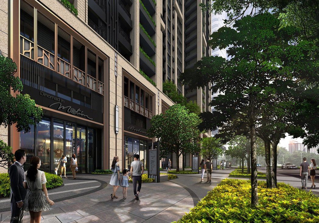 「市政愛悦」店面屬雙面臨路,而深度21米、寬8米、挑高4米2,二樓3米8的超優百...