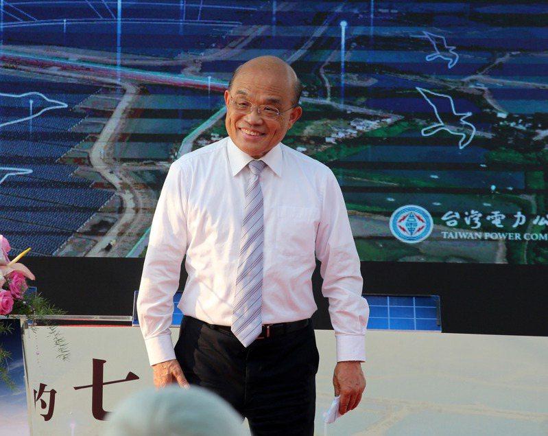 行政院長蘇貞昌。記者劉學聖/攝影