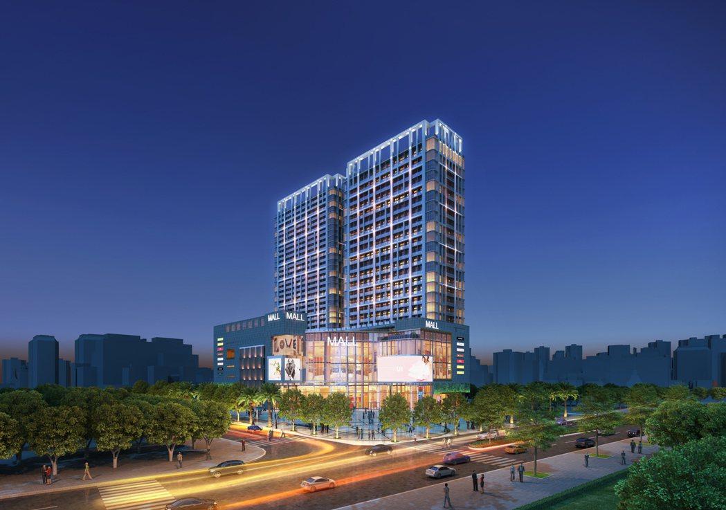豐邑建設特別將豐采520規劃成結合商場百貨、影城娛樂、休閒俱樂部、辦公、住家等五...