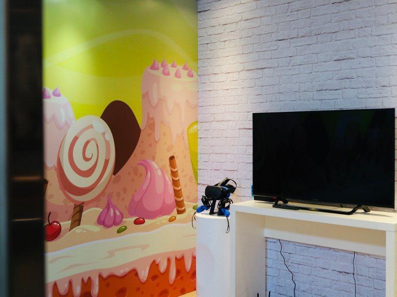 台北福華大飯店設置電子遊戲室。 業者/提供